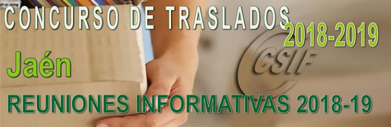 Jaén – Reuniones Informativas Concurso de Traslados 2018-19