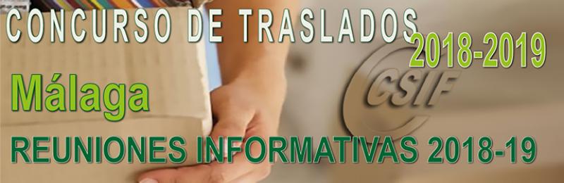 Málaga – Reunión Informativa Concurso de Traslados 2018-19