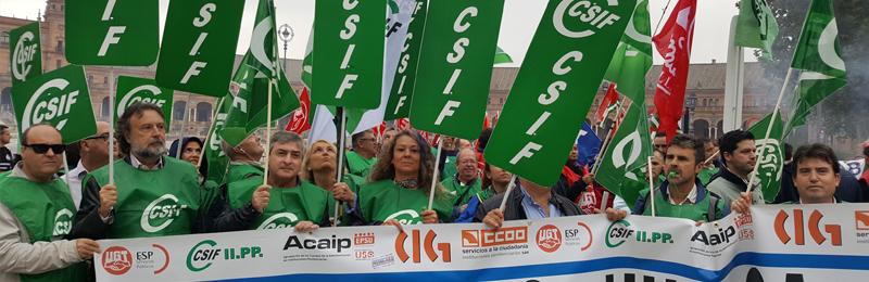 La segunda jornada de huelga general de Prisiones logra un seguimiento del 90 por ciento