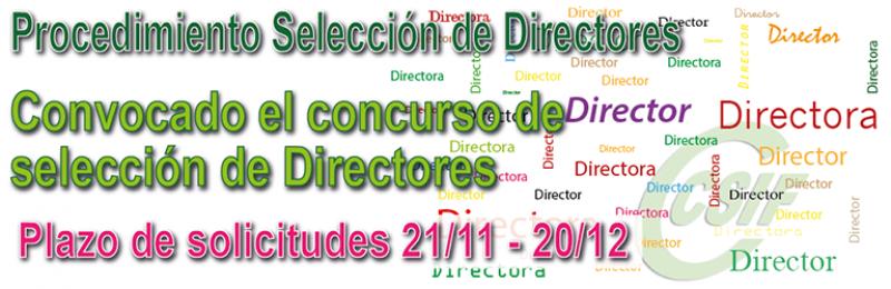 Convocatoria del Concurso de selección de Dirección de Centros 2018.
