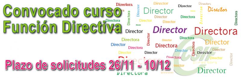 Convocatoria del curso de formación sobre el desarrollo de la función directiva
