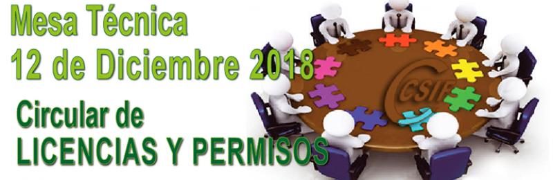 Mesa Técnica 12-12-2018 -- CIRCULAR DE LICENCIAS Y PERMISOS