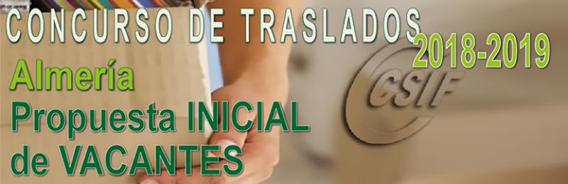 Almería - Propuesta INICIAL de Vacantes Concurso de Traslados 2017-2018