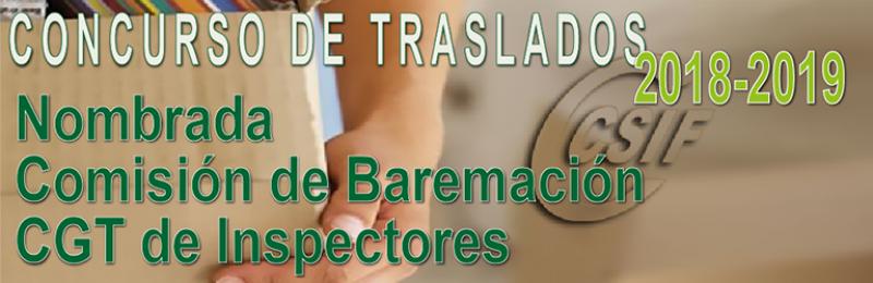 Nombrada Comisión de Baremación del CGT de Inspectores