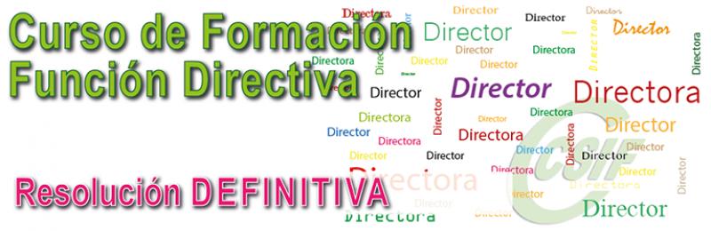 """Listados DEFINITIVOS DEL curso de formación """"Función Ditrectiva"""""""