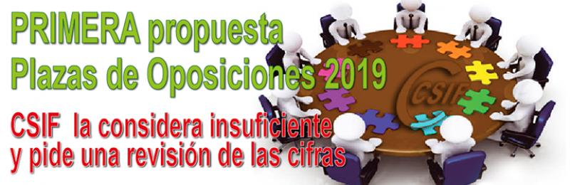 PRIMERA propuesta de la Oferta de Empleo Público para las OPOSICIONES 2019