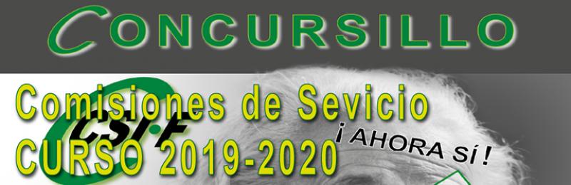 Se abre el plazo de participación en las comisiones de servicios provinciales, interprovinciales e intercomunitarias para el curso académico 2019/2020.