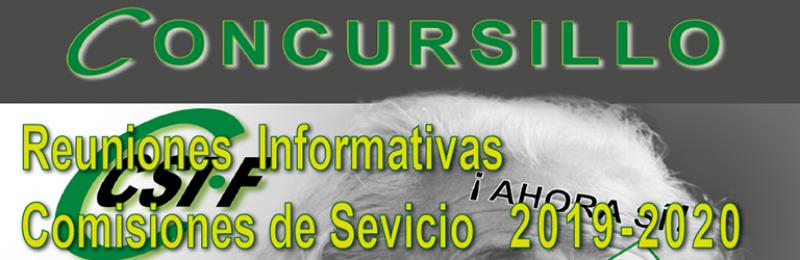 Reuniones Informativas COMISIONES DE SERVICIO 2019-20  --- CONCURSILLO