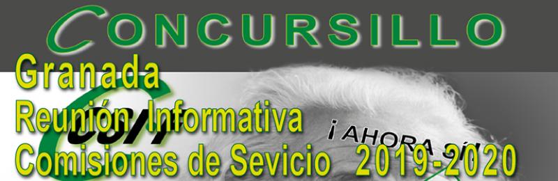 Granada - Reunión Informativa COMISIONES DE SERVICIO 2019-2020 --- CONCURSILLO