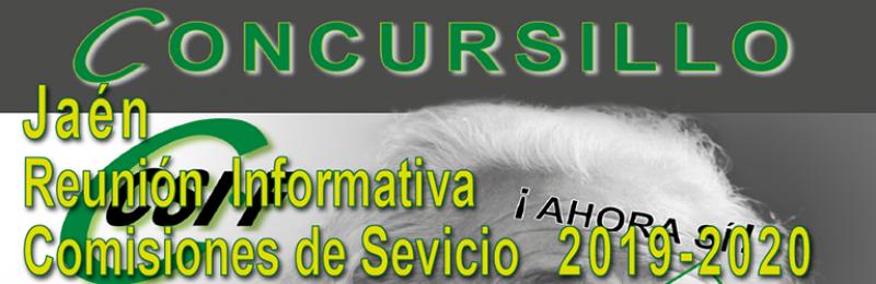 Jaén - Reunión Informativa COMISIONES DE SERVICIO 2019-2020 --- CONCURSILLO