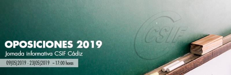 Cádiz - Jornadas de OPOSICIONES 2019