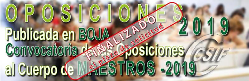 Publicada en BOJA convocatoria Oposiciones Cuerpo de Maestros 2019