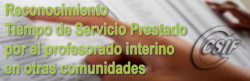 Reconocimiento de tiempo de servicio prestado por el profesorado interino en otras comunidades autónomas
