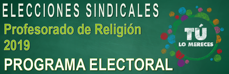 Profesorado de Religión  --  PROGRAMA ELECTORAL 2019