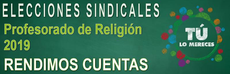 Profesorado de Religión  --  RENDIMOS CUENTAS 2019