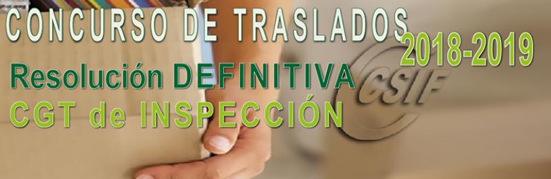 Resolución DEFINITIVA del Concurso de Traslados de Inspección 2018-2019