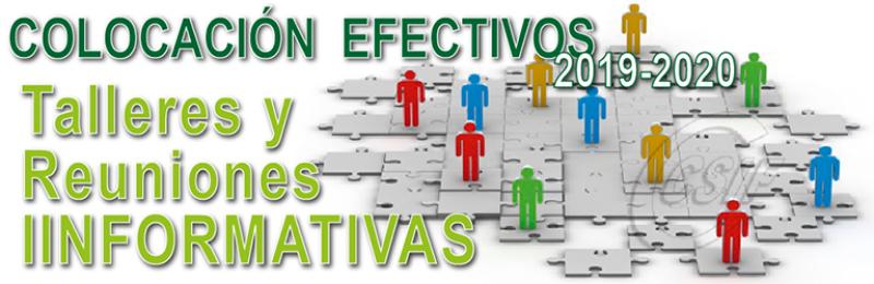 Asambleas y talleres Informativos de Colocación de efectivos 2019-2020