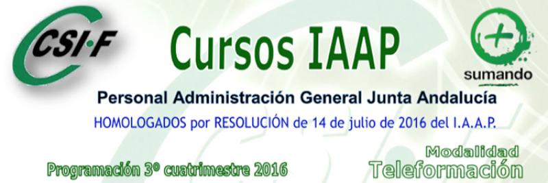 Cursos IAPP impartido por CSIF Personal de la Administración General de la Junta de Andalucía