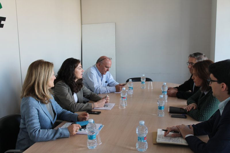 Reunión en sede de CSIF con visita del PP