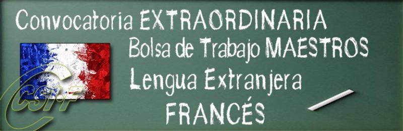 Bolsa de Trabajo de Lengua Extranjera Francés (MAESTROS)
