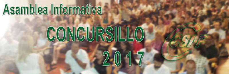"""Reuniones Informativas """"CONCURSILLO"""" 2017"""