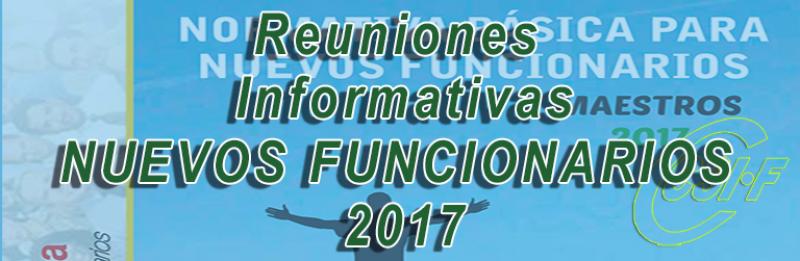 Cádiz - Reunión informativa NUEVOS FUNCIONARIOS 2017
