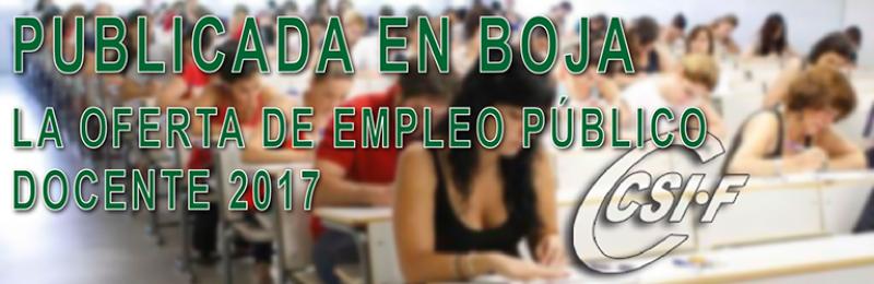 Publicado en BOJA la OPE docente 2017