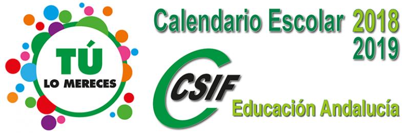 Calendarios Escolares 2018/2019