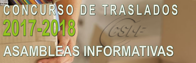 Asambleas informativas del Concurso de Traslados 2016-2017