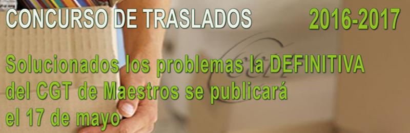 Solucionados los problemas de la resolución DEFINITIVA del CGT de Maestros y se publicará el 17 de mayo