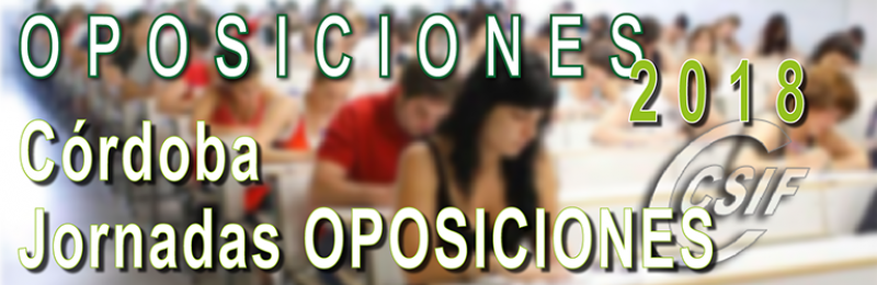 Córdoba - Jornadas de OPOSICIONES 2018