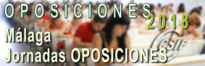 Málaga - Jornadas de OPOSICIONES 21018
