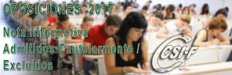 Nota informativa -- Oposiciones Cuerpo de Maestros 2017