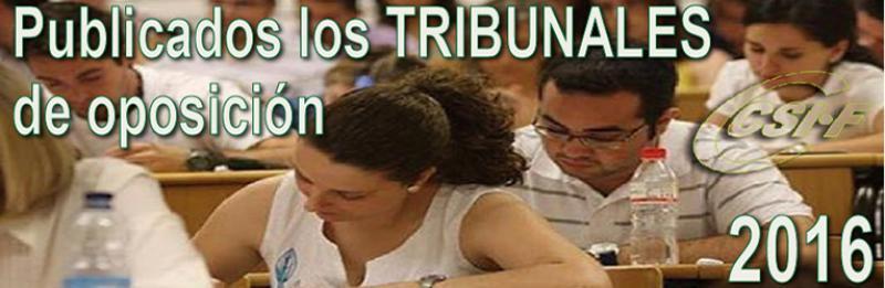 Publicados los tribunales de Oposiciones 2016