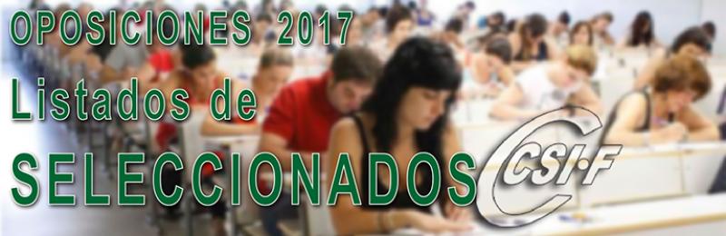 Publicados los listados de personal seleccionado de las Oposiciones al Cuerpo de MAESTROS 2017.