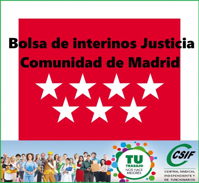 CSIF informa - Publicación BOCM de la Bolsa de interinos de Comunidad de Madrid