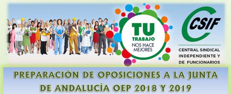 Preparación de oposiciones Administración General Junta Andalucía 2018-2019