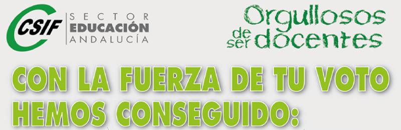CSIF -- CON LA FUERZA DE TU VOTO - HEMOS CONSEGUIDO
