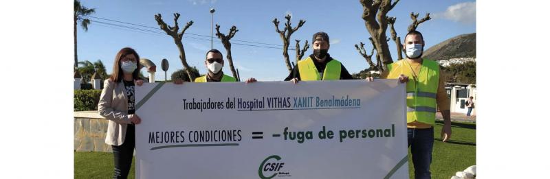 Protesta de los trabajadores el pasado mes de enero.
