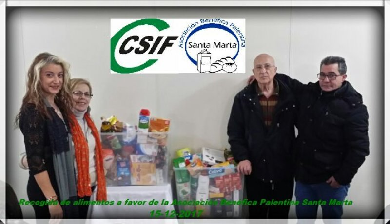 CSIF recoge alimentos en favor de la asociación benéfica palentina Santa Marta