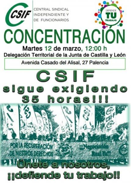 CSIF sigue exigiendo las 35 horas