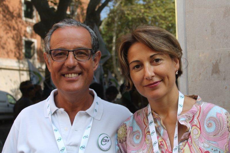 Manuel Rodríguez y Maite Alcalá, delegados de CSIF en Hospital Clínico de Valencia