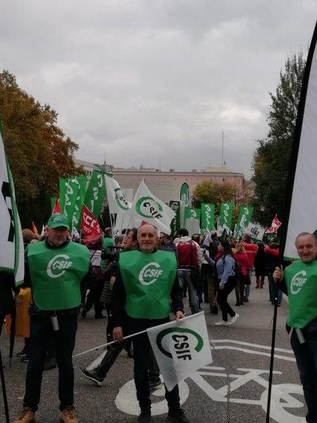 Concentración Madrid trabajadores de Justicia