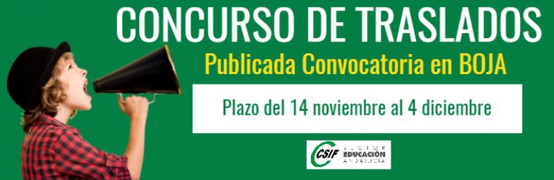 Concurso de traslados primaria secundaria andalucía 2019