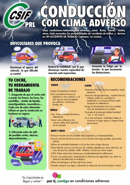 Conducción con clima adverso