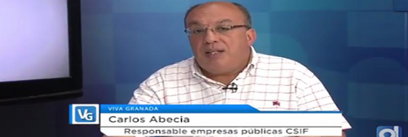 Entrevista al responsable de Empresas Públicas Estatales de CSIF Granada en Ondaluz TV Granada
