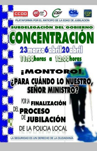 POR LA FINALIZACIÓN DEL PROCESO DE JUBILACIÓN DE LA POLICÍA LOCAL