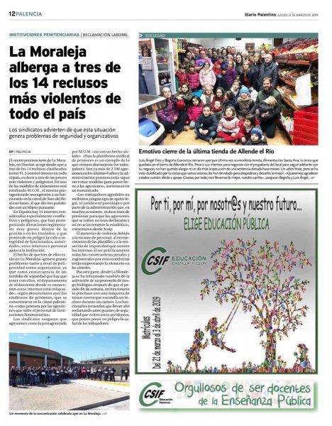 Protesta en La Moraleja (Diario Palentino)