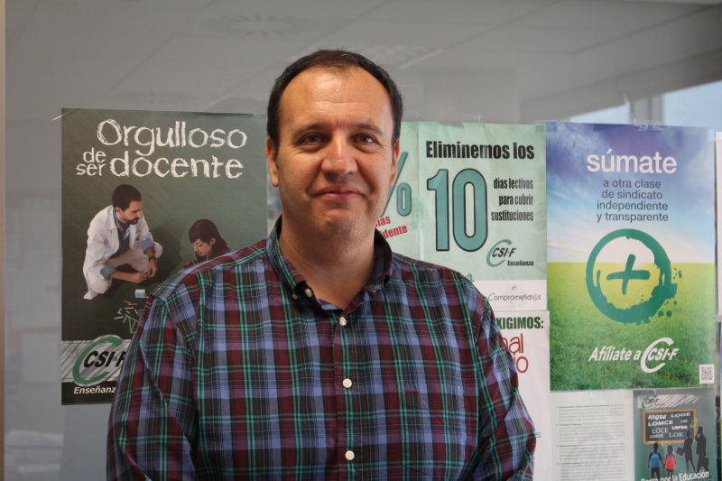 José Seco, delegado de CSIF Educación Comunidad Valenciana