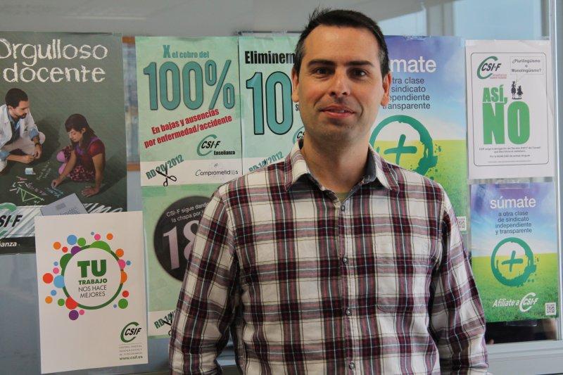 Raúl Almonacid, delegado de CSIF Educación
